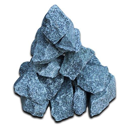 mewmewcat Pierres de Sauna de 15 kg Pierres pour Sauna Pierres pour poêle à Sauna Env. 6~8 cm Bleu 16 3KG