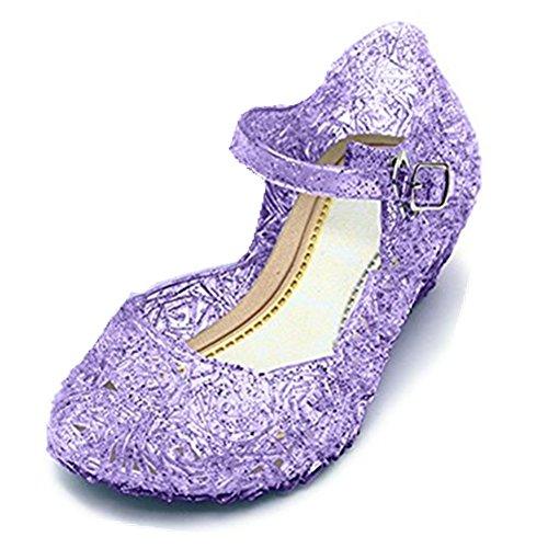 GenialES, sandali in plastica con tacco, per vestito in maschera da Principessa o regina, per compleanno, Carnevale, feste, Cosplay, Halloween Size: CN33 corresponde con EU31
