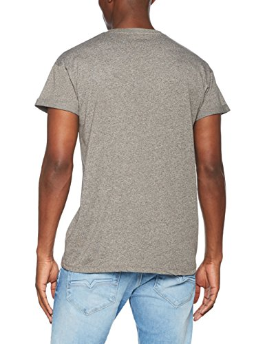 New Look Herren T-Shirt Basic Grindle High Roll Grau (Grey Pattern)