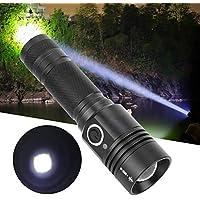 Gransun Potente USB de Carga Linterna LED Zoom telescópico Antorcha eléctrica para Acampar al Aire Libre