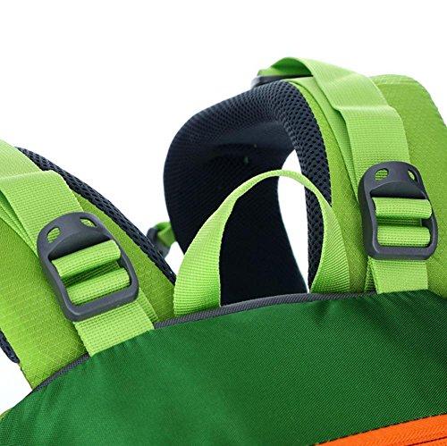 Xiuxiandianju 36L - 55L outdoor wasserdichte Anti-Riss-Bergsteigen Tasche Männer und Frauen wandern camping Reise Reisen Rucksack Green