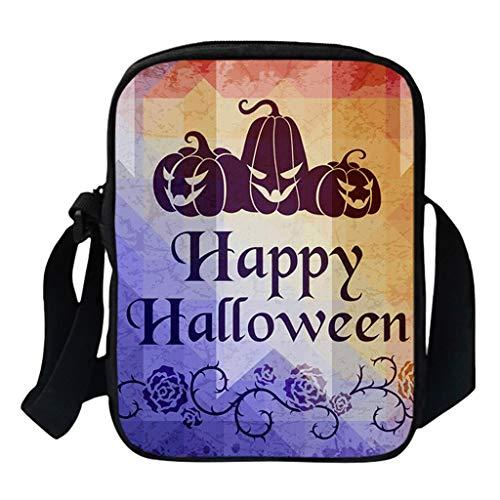 KIMODO Damen Herren Funny Halloween Schultertasche Umhängetasche Mode Kürbis Drucken Messenger Neue Henkeltasche Handtasche Bag -