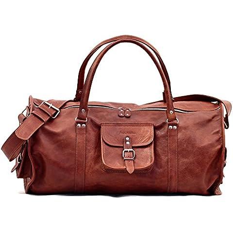 LE VOYAGEUR (XL) bolsa de viaje de cuero estilo vintage PAUL MARIUS