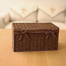 xmz vraiment útil caja de almacenaje cofres de almacenaje (ratán