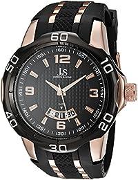 Joshua & Sons Reloj de cuarzo Man JX110BKR 51 mm