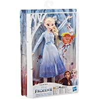Frozen Singing Elsa Fashion Doll with Music Wearing Blue Dress Inspired by Disney Frozen 2, Toy For Kids 3 Years and Up