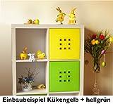 Designer Regal-Tür als Facheinsatz ca. 33,6cm x 33,6cm * Küken-gelb
