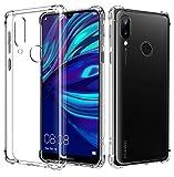 AIFIVE Coque Huawei Y7 2019, Ultra Mince Étui de Protection Absorption de Choc avec Coin Renforcé Bumper, Souple TPU Housse pour Huawei Y7 2019 (Transparent)