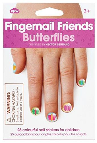 npw Girl 's Stick auf Nail Art Sticker Aufkleber–Schmetterlinge Fingernagel Friends Nagel...
