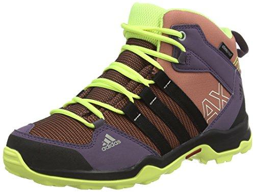 adidas AX2 Mid CP, Unisex-Kinder Outdoor Fitnessschuhe, Mehrfarbig (Raw Mehrfarbig F15/Core Black/Frozen Yellow F15), 35 EU
