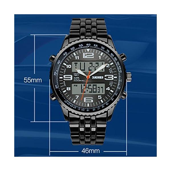 0960e3527b3c SunJas Reloj Deportivo de Doble Horario Multifunciones de Alarma ...