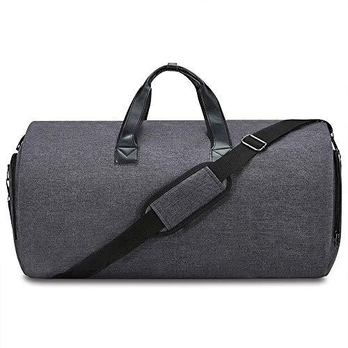 PUDDINGHH® 2 in 1 Convertible Suit Carry On Garment Bag - Faltbare Gepäck-Duffle-Tasche,Black