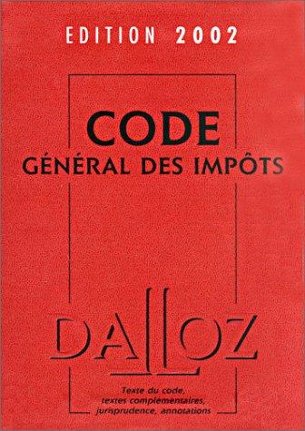 Code général des impôts, édition 2002 par Collectif