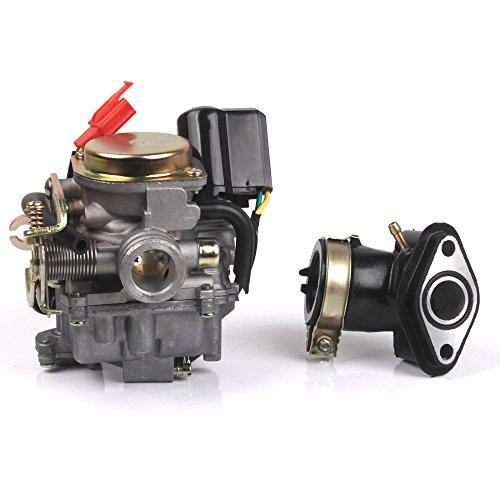 BAODE Roller Vergaser und Ansaugstutzen für Rex RS 400 / RS 450 / RS 460 /GY6 50cc /GY6 60cc