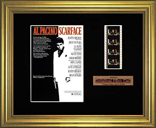 Scarface, gerahmt, Iron-Man-Motiv, original Filmcell-Foto - Scarface Movie Memorabilia
