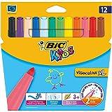 BIC Kids Visacolor XL Feutres de Coloriage - Etui Carton de...