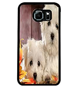 ColourCraft Cute Puppies Design Back Case Cover for SAMSUNG GALAXY S6 EDGE