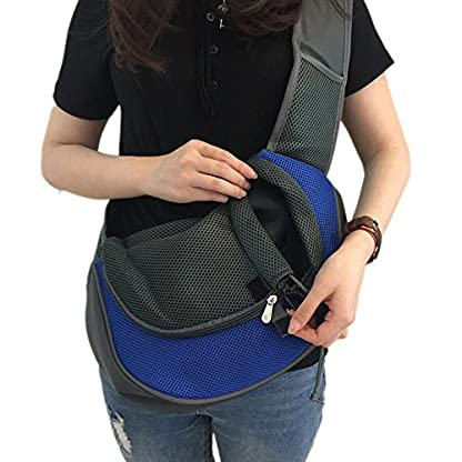 Wiiguda@Pet Sling Carrier Adjustable Shoulder Bag for Dogs Cats Travel Carrier Hand-free with Extra Bag for Pets M(2.5… 4