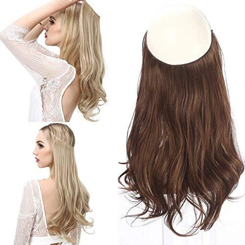 28 cm secret halo extensions capelli umani ondulati fish line estensione miracle donne hairpieces 120 g