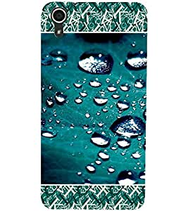 PrintDhaba Droplets D-4689 Back Case Cover for HTC DESIRE 728 (Multi-Coloured)