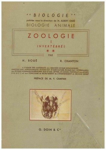 Biologie animale. Zoologie : . I. Invertébrés. 2...