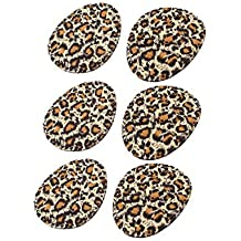 Piel de leopardo zapatos de tacón alto delanteros amortiguadores de apoyo 3 pares Negro Marrón