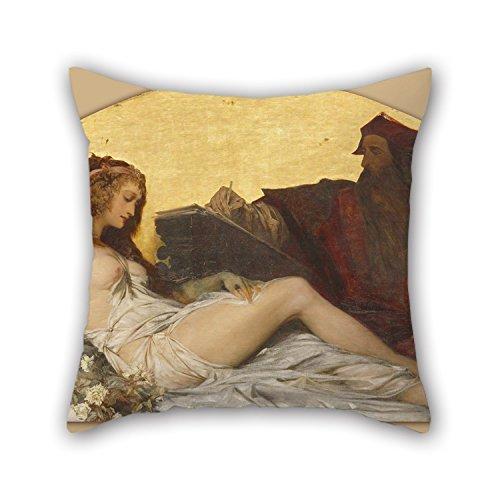 couvertures d'oreiller de peinture à l'huile Hans Makart - Leonardo da Vinci, pour adolescents garçons, DE CUISINE, GF, siège auto, Outdoor, Parure de lit 45,7 x 45,7 cm/45 par 45 cm (deux côtés)