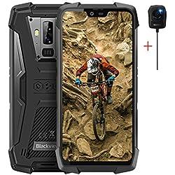 """Blackview BV9700 Pro - 5.84"""" Pulgadas FHD + IP68 Smartphone Resistente Agua y Golpes, Helio P70 6GB + 128GB Android 9.0, Calidad del Aire y Monitor de frecuencia cardíaca Vision Nocturna Camara"""