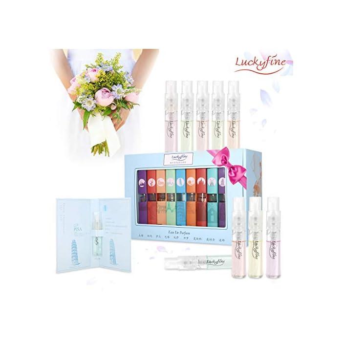 Luckyfine Parfum Set, Parfum Spray 9 Flaschen Stadt Parfüm Miniaturen Set, geeignet für Persönlicher Gebrauch und…