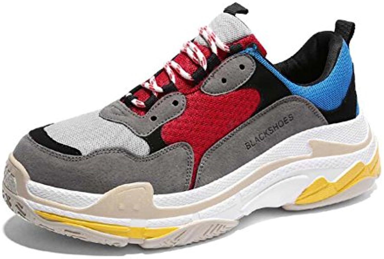 MYI Zapatos atléticos para hombre Unisex Casual Harajuku Sneakers Light Zapatos deportivos cómodos Primavera Negro...