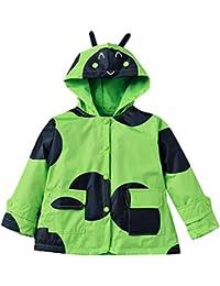 Highdas Los niños de las muchachas 'encapuchan el impermeable Windproof y impermeabilizan Outwear la chaqueta 100-140cm de la capa