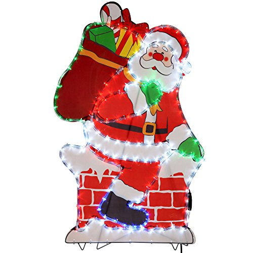 Werchristmas 100 cm large chimney santa led rope lights silhouette werchristmas 100 cm large chimney santa led rope lights silhouette outdoor garden wall christmas decoration aloadofball Gallery