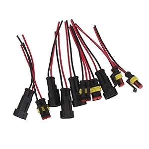 2 broches de voiture automatique kit connecteur prise lectrique tanche avec fil awg - Prise electrique en anglais ...