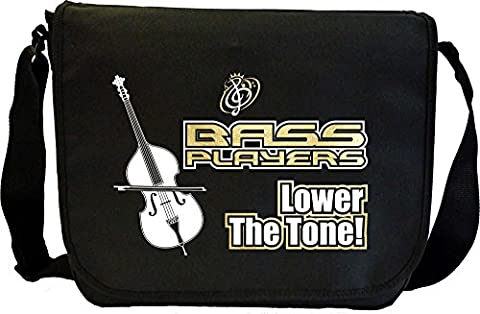 Double Bass Lower The Tone - Sheet Music Document Bag Sacoche de Musique MusicaliTee
