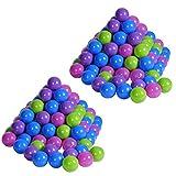 Knorrtoys 56778 - Bälleset - 200 Bälle softcolour für Bällebad, 6 cm Durchmesser, in Farbmischung Pastelltöne rosa/ blau/ lila/ grün, ohne gefährliche Weichmacher, TÜV-Rheinland Testbericht v. April 2016
