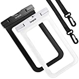"Simpeak (2 Pack) Custodia Impermeabile Subacquea Universale Smartphone Massimo, Borsa Waterproof Cover Impermeabile per iPhone 8/8 Plus/iPhone X/iPhone 7/7 Plus Altri Smartphone 5.8"" Nero+Bianco"