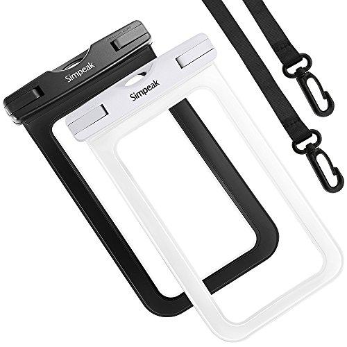 Bolsa estanca movil Universal 5.8 Pulgadas,(2-pack) Simpeak funda estanca bolsa impermeable movil funda sumergible para iPhone 7, 7 Plus,6 / 6s Plus, SE 5S 5C, Samsung Galaxy S8/S7/S7 Edge/S6/S6 Edge/Samsung J5, Huawei P10/P10 Lite/P9/P9 lite/P8 Lite, HTC