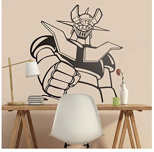 Vinilo decorativo Mazinger Z. Dibujos animados clásicos para amantes de la serie de los 80.Cool Giant Robot Wall Decal Vinilo Adhesivo 57x60cm