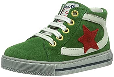 Naturino Falcotto Ray, Baskets mode mixte enfant - Vert (Verde-Rosso-Bianco), 23 EU