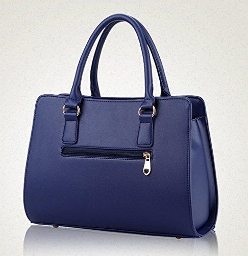 Tibes Sac à main Fashion Women Boston Porte-sac à bandoulière Bleu ciel