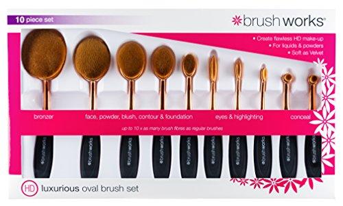 Brushworks ovale Make Up Set