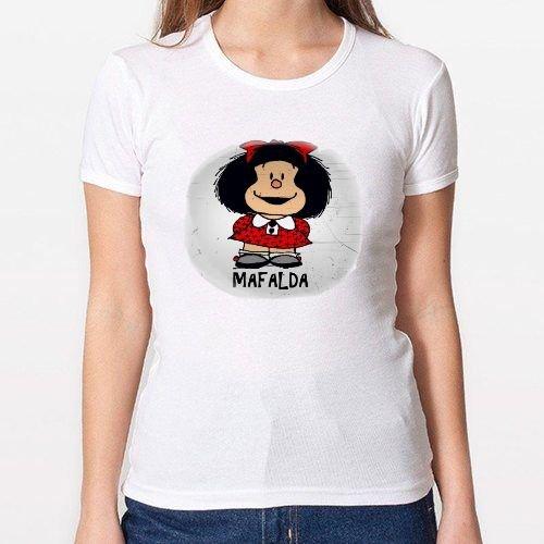 Positivos Camisetas Mujer/Chica - diseño Original Mafalda - M