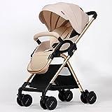 MEI XU Puppenwagen Baby-Trolley-Licht kann in einer faltenden Laufkatze sitzen Kinderwagen (Farbe : Khaki)