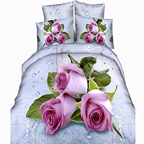 XIXI 4Pcs 3D Printed Bedding Set Queen Size Quilt Cover Bed Sheet 2 Pillowcases,Animal Pattern ( F 250*270 220*240 Bed Quilt