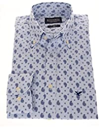 778681 - Bots & Bots - Exclusive Collection - Chemise Homme - 100% Coton - Micro Print - Button Down - Normal Fit