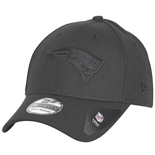 New Era BOB Team Poly 39Thirty Cap New England Patriots Schwarz Schwarz, Size:S/M