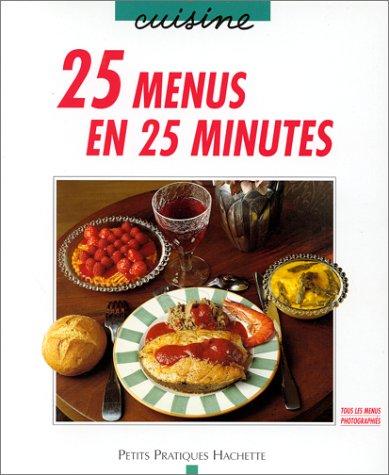 25 menus en 25 minutes