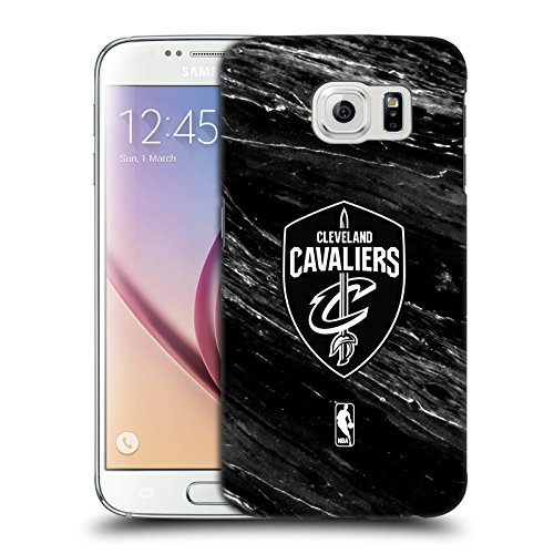 Head Case Designs Offizielle NBA S&W Marmor Cleveland Cavaliers Harte Rueckseiten Huelle kompatibel mit Samsung Galaxy S6 -