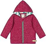 loud + proud Mädchen Jacke In Melange Strick Aus Bio Baumwolle, GOTS Zertifiziert Sweatjacke, Rosa (Berry Ber), 104 (Herstellergröße: 98/104)