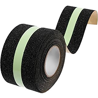Ailiebhaus Anti-slip Adhesive Tape Glow in Dark Safety Tape Roll for Stairs, 5cm x 8m